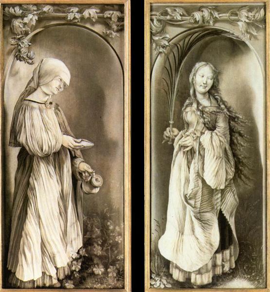 St. Elizabeth and a Saint Woman with Palm, 1508 - 1511 - Matthias Grünewald