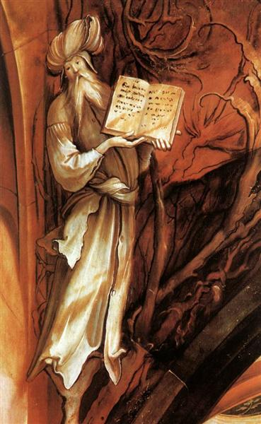 The Prophet Isaiah (detail from the Isenheim Altarpiece), c.1512 - c.1516 - Matthias Grünewald