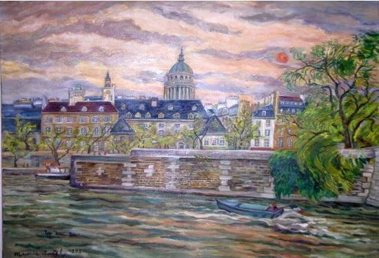 Le Panth U00e9on Et La Seine - Maurice Boitel - Wikiart Org