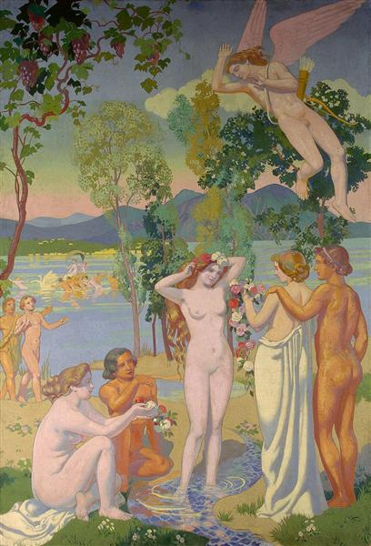 Panel 1. Eros is Struck by Psyche's Beauty, 1908 - Maurice Denis