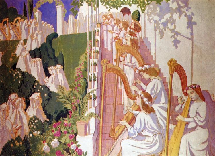Procession de Fete Dieu, 1904 - Maurice Denis