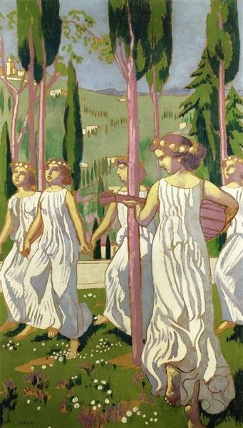 The Dancers (also known as Eternal Summer, Wiesbaden) - Maurice Denis