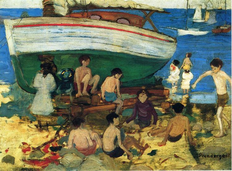 Low Tide, c.1895 - c.1897 - Морис Прендергаст