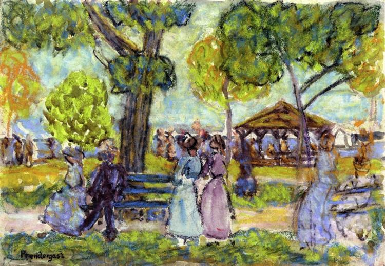 The Pavilion, 1910 - Maurice Prendergast