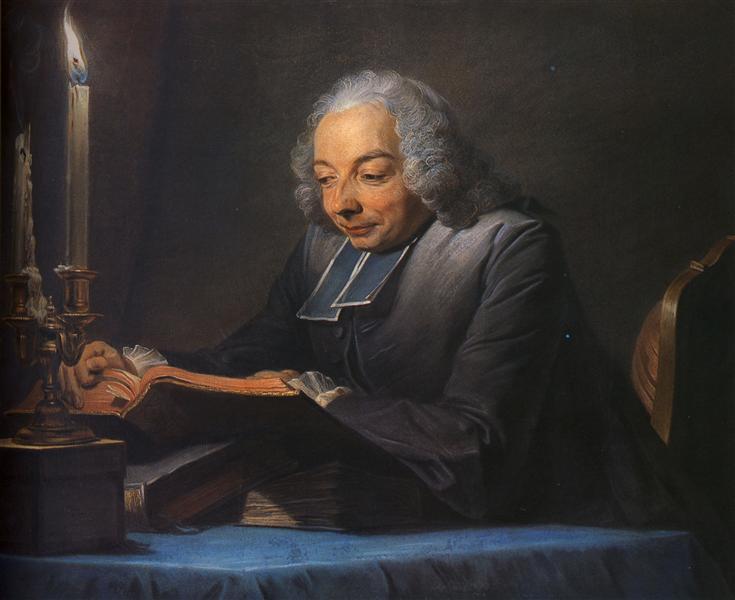 Abbe Jean-Jacques Huber, 1742 - Maurice Quentin de La Tour