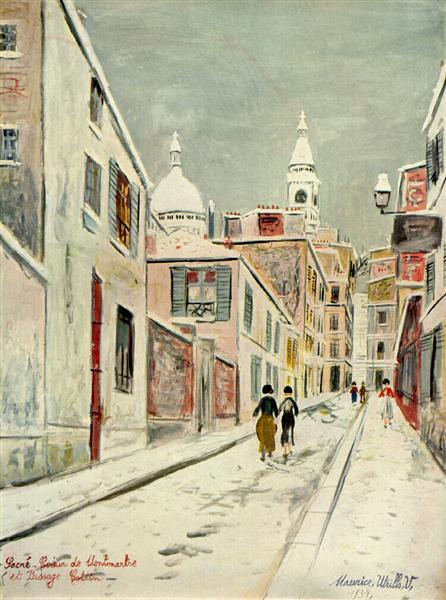 Sacre-Coeur and Passage Cottin - Морис Утрилло