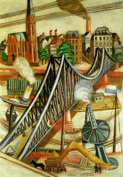 The Iron Bridge (View of Frankfurt), 1922 - Max Beckmann