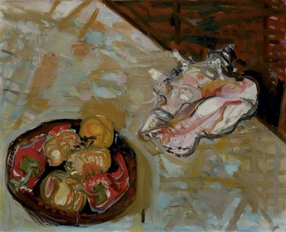 Plate with Fruits and Shellfish, 1953 - Max Gubler
