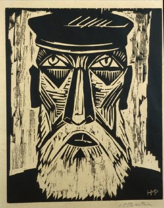 head of a fisherman 1921 max pechstein wikiartorg