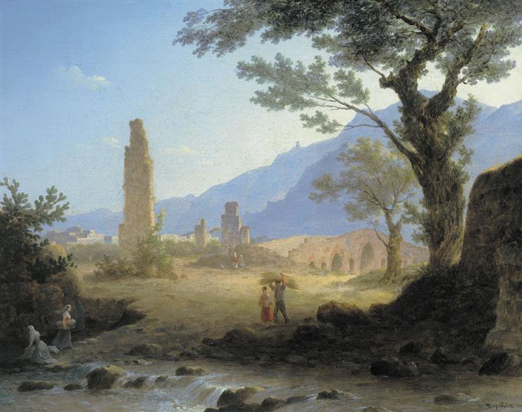 Italian Landscape, 1847 - Максим Воробйов