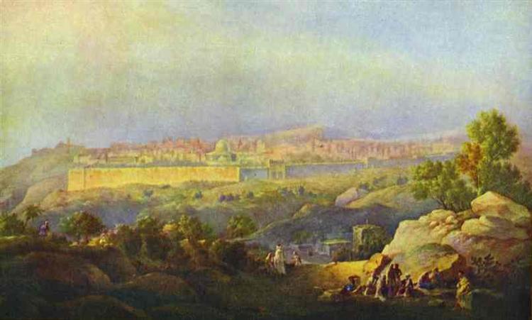 View of Jerusalem, 1836 - Максим Воробьёв