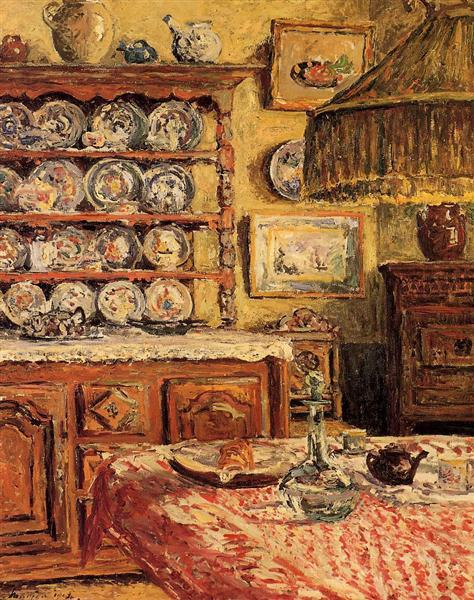 The Dining Room after Lunch, 1914 - Maxime Maufra