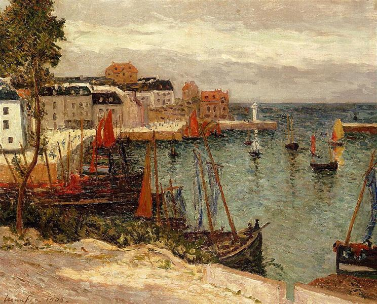 The Port of Sauzon, 1905 - Maxime Maufra