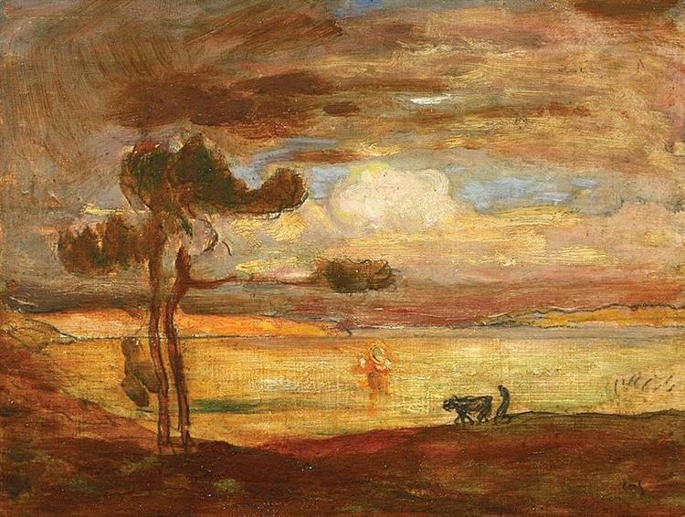 Allegorical Landscape - Michel Simonidy
