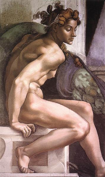 Ignudo, c.1509 - Miguel Ángel