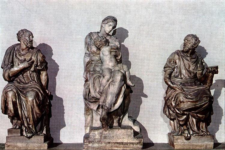 Medici Madonna between St. Cosmas and St. Damian, 1531 - Michelangelo