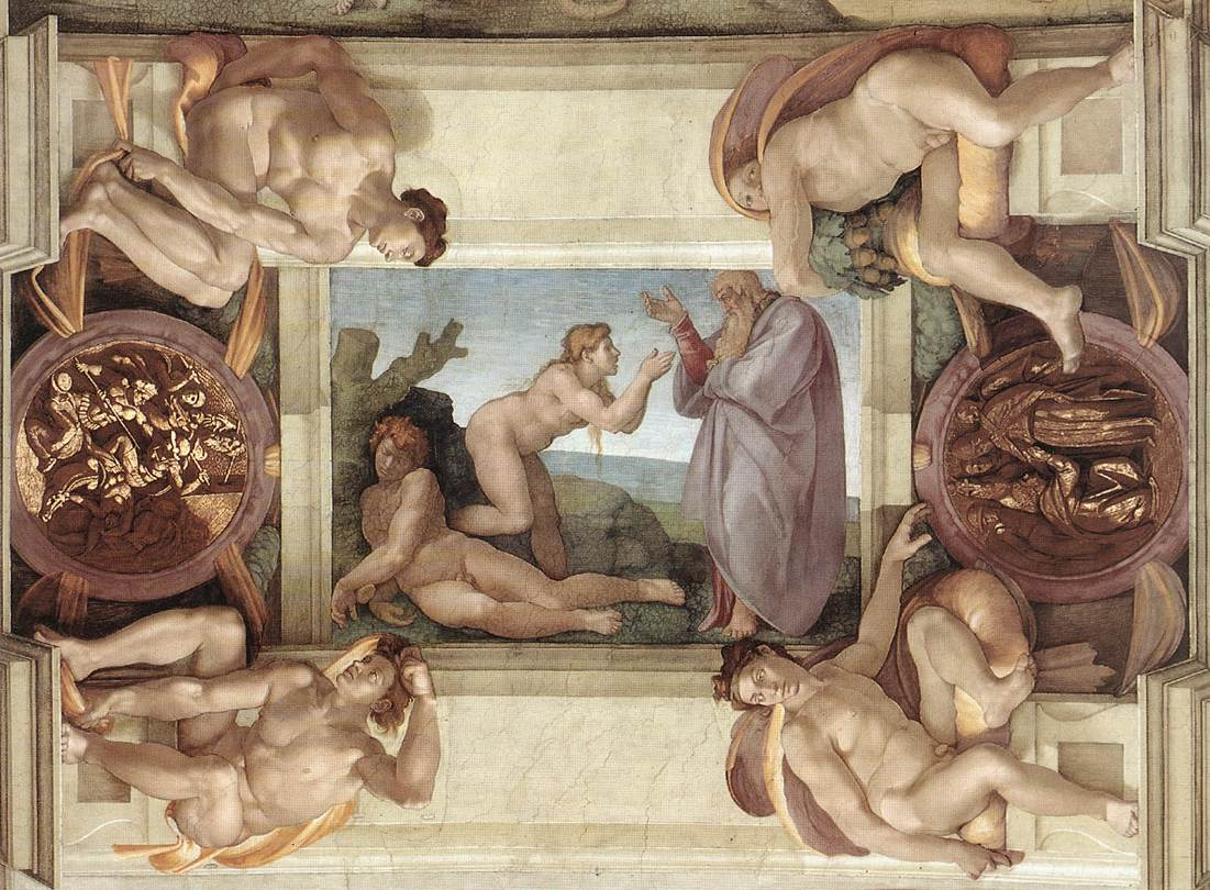 Sistine Chapel Ceiling: Creation of Eve, 1510 - Michelangelo ...