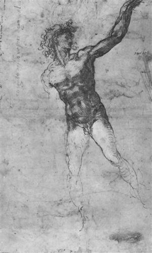 Sketch of a Nude Man (study for the