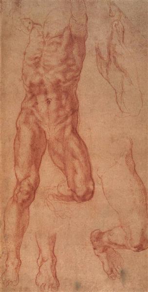 Study for Haman, c.1508 - Michelangelo