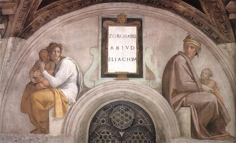 The Ancestors of Christ: Abiud, Eliakim, 1512 - Michelangelo