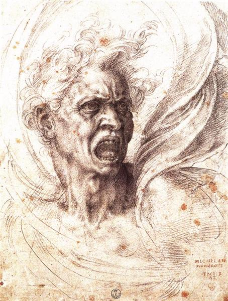 The Damned Soul, c.1525 - Michelangelo