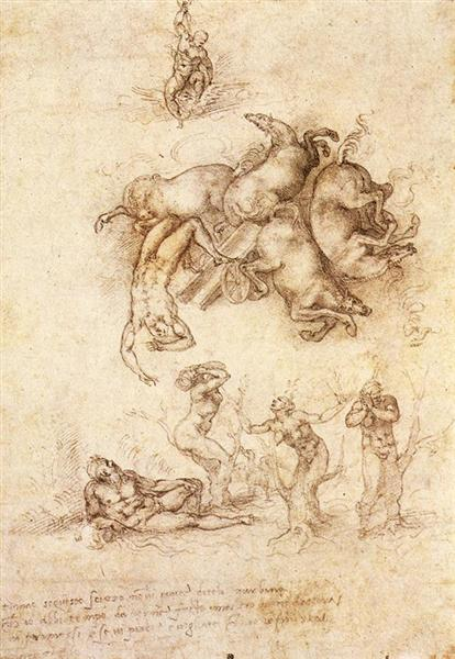 The Fall of Phaeton, 1533 - Michelangelo