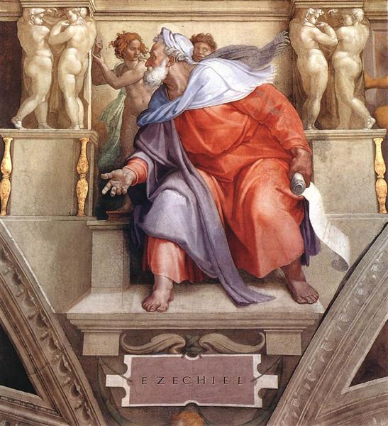 The Prophet Ezekiel, 1510 - Michel-Ange