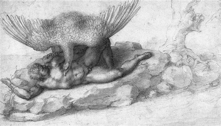 The Punishment of Tityus, 1532 - Michelangelo