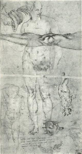 Various studies, c.1505 - Michelangelo