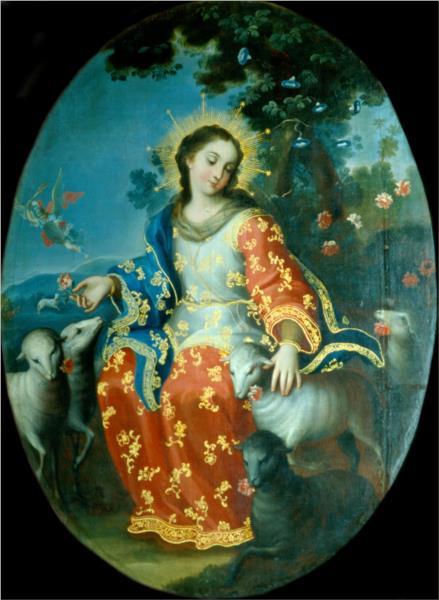 The Divine Shepherdess - Miguel Cabrera