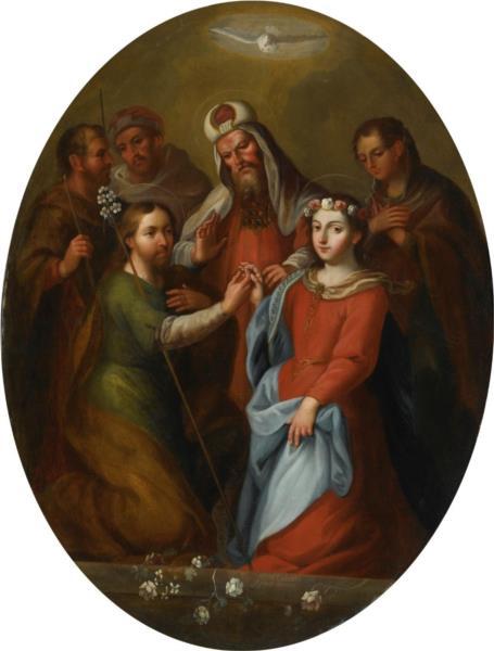 The Marriage of the Virgin, 1737 - Miguel Cabrera