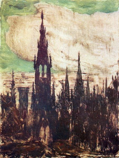 City (Towers), 1906 - Mikalojus Konstantinas Ciurlionis