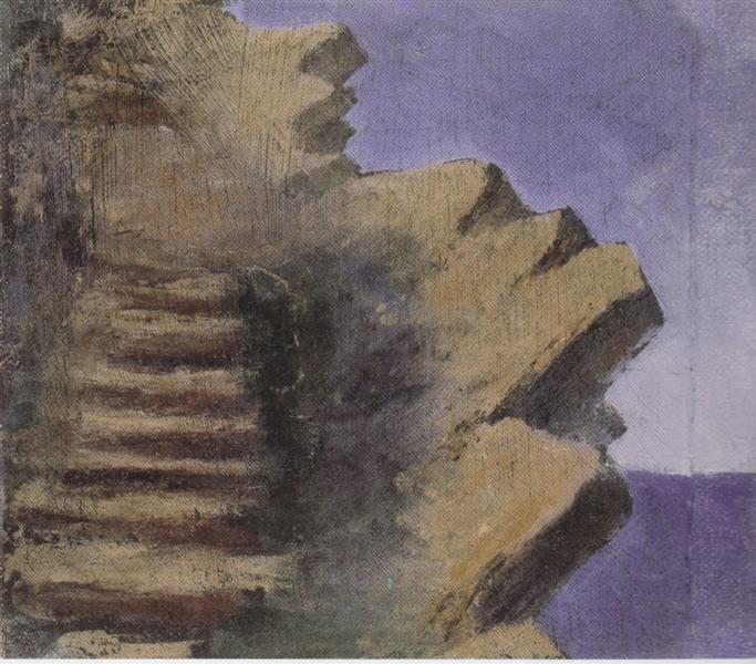 Cliff at the seaside, 1905 - Mikalojus Konstantinas Ciurlionis