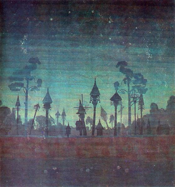 Литовське кладовище, 1909 - Мікалоюс Чюрльоніс