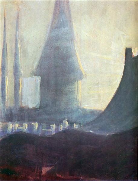 My road (III), 1907 - Mikalojus Konstantinas Ciurlionis