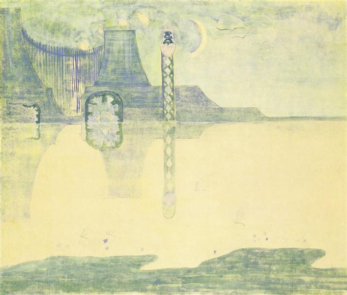 Scherzo (Sonata of the Serpent), 1908 - Mikalojus Konstantinas Ciurlionis