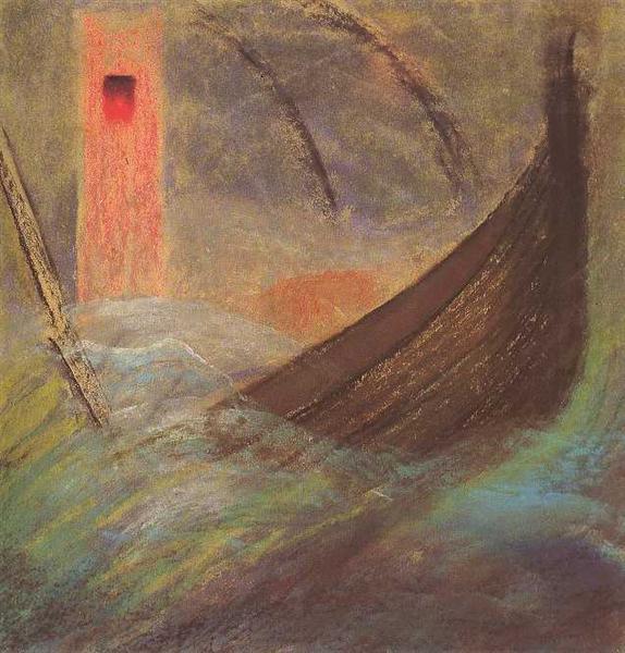 Deluge (V), 1904 - Mikalojus Konstantinas Ciurlionis