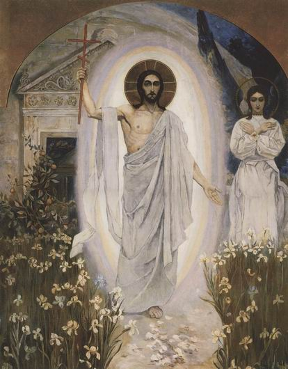 Resurrection, c.1892 - Michail Wassiljewitsch Nesterow