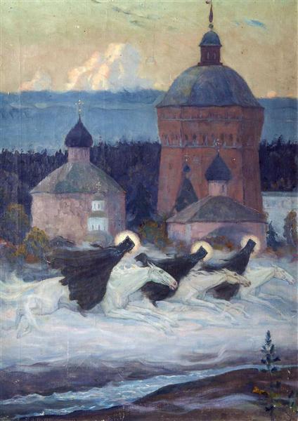 Riders, 1932 - Mikhail Nesterov