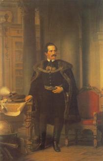Portrait of Emil Desseweffy - Miklós Barabás