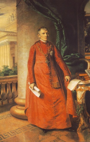 Portrait of János László Pyrker, Bishop of Eger, 1842 - Miklos Barabas