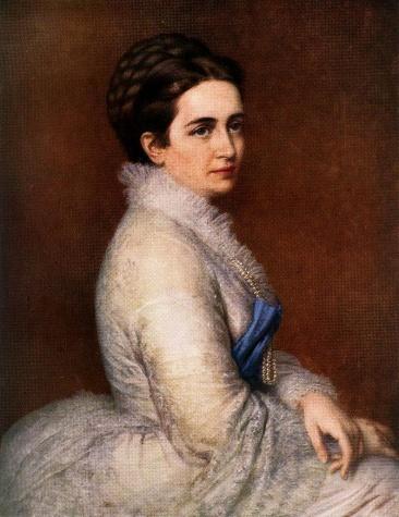 Portrait of Mrs. István Bittó, 1874 - Miklos Barabas