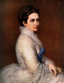 Portrait of Mrs. István Bittó - Miklós Barabás