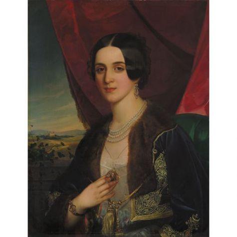 Portrait of Savka Obrenovic, 1845 - Miklós Barabás