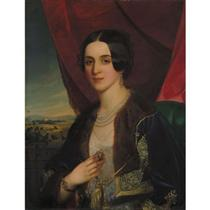 Portrait of Savka Obrenovic - Miklós Barabás