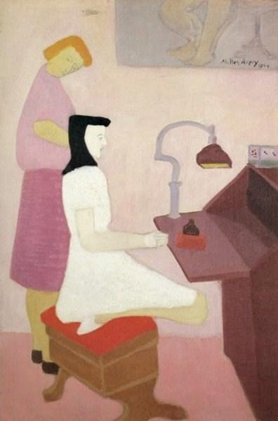 Two Figures at Desk, 1944 - Milton Avery