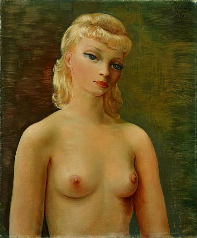 Бюст светловолосой девушки, 1948 - Моис Кислинг