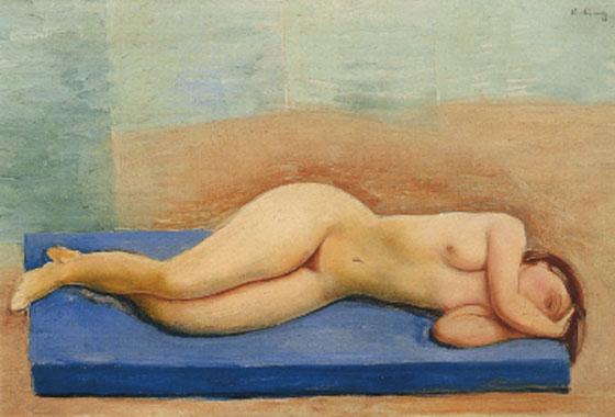 Lying nude, 1927 - Moise Kisling
