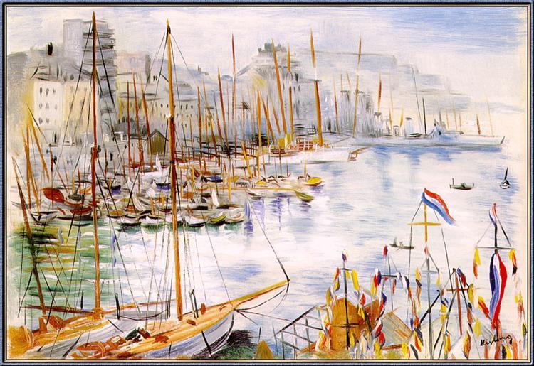 Marseille Port - Moise Kisling