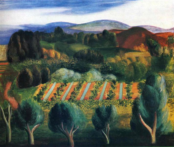 Provence landscape, 1918 - Moise Kisling